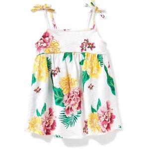 Floral Tie-Shoulder Swing Top for Toddler