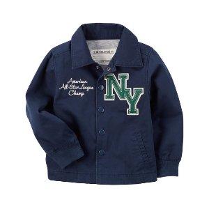 Jersey-Lined Baseball Jacket