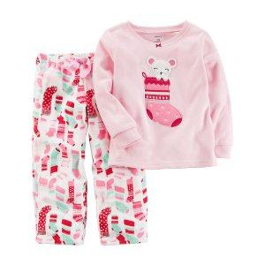 2-Piece Christmas Fleece PJs
