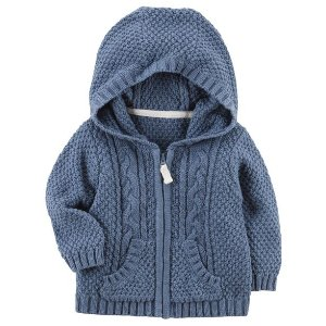 Zip-Up Cable Knit Cardigan