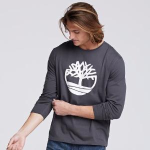 Timberland | Men's Long Sleeve Tree Logo Ringer T-Shirt