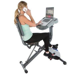$151.80 工作锻炼两不误Exerpeutic WORKFIT 1000 折叠自行车健身器
