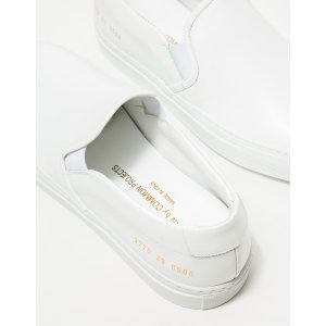 Slip-On in White Leather