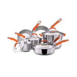 Rachael Ray® 10-pc. Stainless Steel II Cookware Set | Bon-Ton