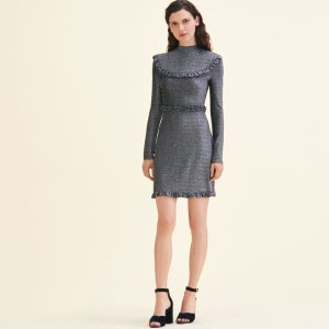 RISTER Short knit dress with frills