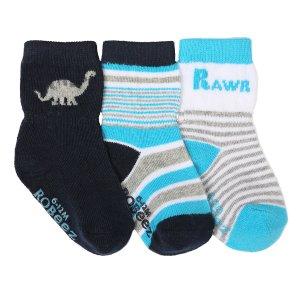 Rawr Baby Socks, 3 Pack | Robeez