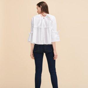 LENARD Cotton poplin top - Tops & T-Shirts - Maje.com