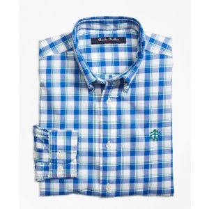 Cotton Plaid Sport Shirt - Brooks Brothers