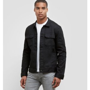 Black Coated Denim Jacket | Kenneth Cole