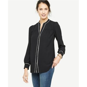 Piped Blouse | Ann Taylor