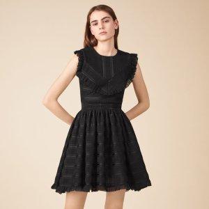 ROSANA Mid-length dress with delicate flounces - Dresses - Maje.com