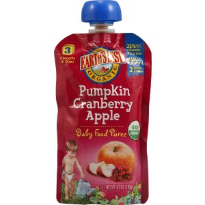 Earth's Best Organic Baby Food Stage 3 Pumpkin Cranberry Apple -- 4.2 oz - Vitacost