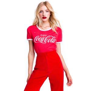 Coca Cola Destroyed Johnny Ringer Tee - Wildfox