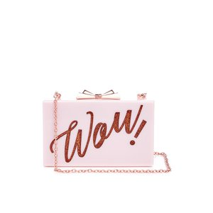 Ted Baker Women's Stecy Glitter Word Resin Clutch Bag - Purple