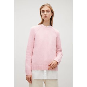 Knitted raglan-sleeve jumper - Pink - Sale - COS US