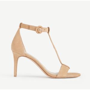 Demi Suede T-Strap Sandals | Ann Taylor