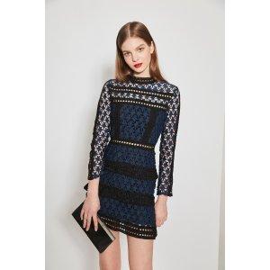 Lace Cut-Out Mini Dress DR1419