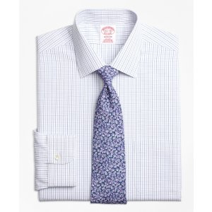 Non-Iron Madison Fit Alternating Windowpane Dress Shirt - Brooks Brothers