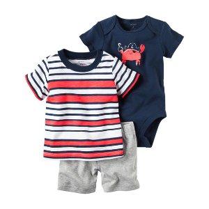 Baby Boy 3-Piece Little Short Set | Carters.com