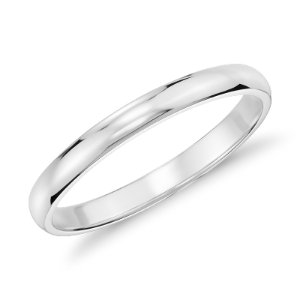 Classic Wedding Ring in 14k White Gold (2mm) | Blue Nile