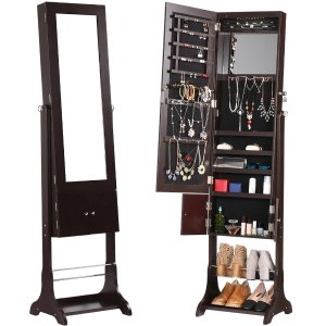 LANGRIA 珠宝收纳可锁镜橱,雕花,带鞋柜