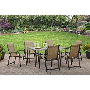 $239Mainstays Bristol Manor 户外庭院桌椅7件套