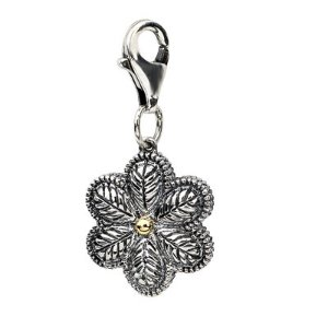 Amore La Vita� 3D Flower Charm in Sterling Silver and 14K Gold - Save on Select Styles - Zales