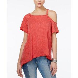 Free People Coraline Cold-Shoulder T-Shirt