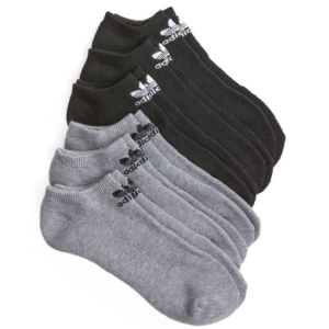 adidas 6-Pack Original Trefoil No-Show Socks
