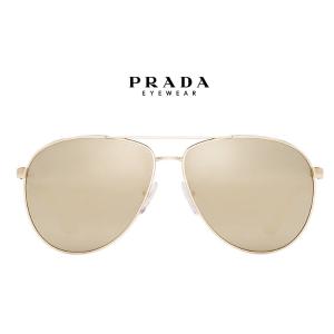 Prada PR 53QS 60, Gld Wht, Gld Mir Sunglasses
