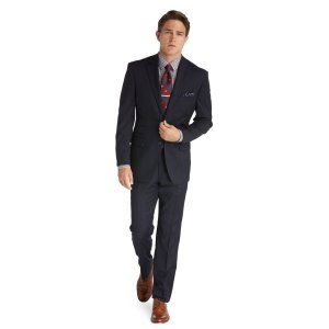 1905 Tailored Fit 2-Button Wool Suit with Plain Front Trousers CLEARANCE - Suits   Jos A Bank