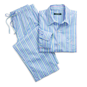 Striped Sateen Pajama Set - Sleepwear & Robes � Women - RalphLauren.com