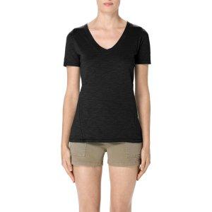 Skinny Boy Short Sleeve Tee in Black | V Neck Tee | J Brand