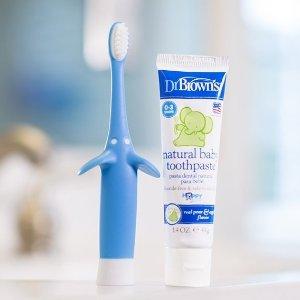 $5.94 (原价$6.99)Dr. Brown's 布朗博士小象造型婴幼儿训练牙刷牙膏套装