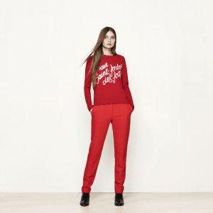 MADELEINE Wool sweater with writing - Sweaters - Maje.com