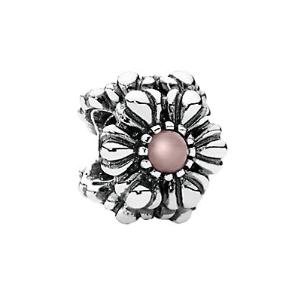 Rue La La — PANDORA Birthday Blooms Silver Opal Charm