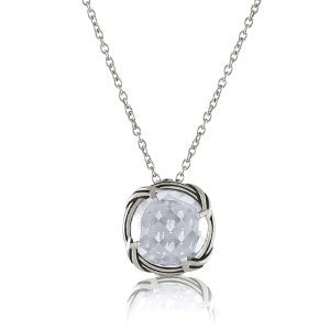 Fantasies Rock Crystal Necklace in sterling silver