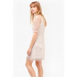 Rene Lace And Crochet Mix Dress