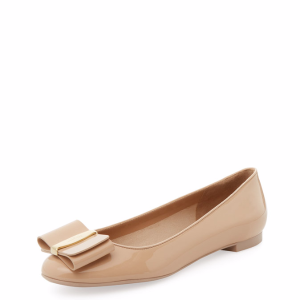 Elinda Patent Leather Flat by Salvatore Ferragamo at Gilt