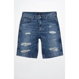 PacSun Straight Destroyed Medium Denim Shorts at PacSun.com