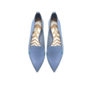 Nicholas Kirkwood Beya Sky Blue Tumbled Leather Loafer