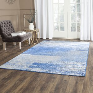 Trent Austin Design Costa Mesa Silver/Blue Area Rug & Reviews | Wayfair