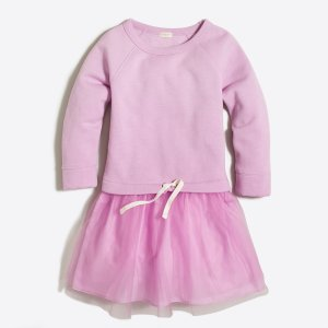 Girls' sweatshirt tulle dress : Dresses | J.Crew Factory