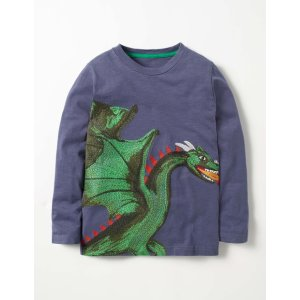 Mythical Superstitch T-shirt (Charcoal Grey Marl Dragon)
