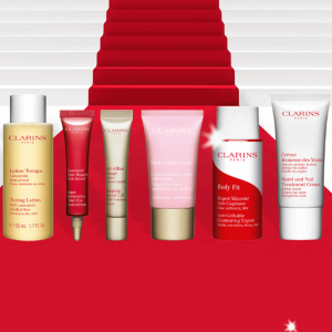 6-piece Best-sellers giftWith any $100 order @ Clarins