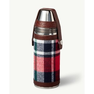 Plaid Flask & Shot Cup Set