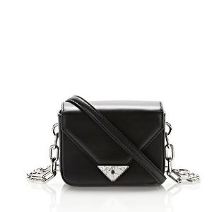 EXCLUSIVE MINI PRISMA ENVELOPE SLING IN BLACK WITH MARBLE DETAIL
