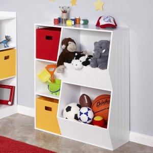 RiverRidge Kids 3-Cubby, 2-Veggie Bin Floor Cabinet