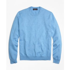 Supima® Cotton Crewneck Sweater - Brooks Brothers