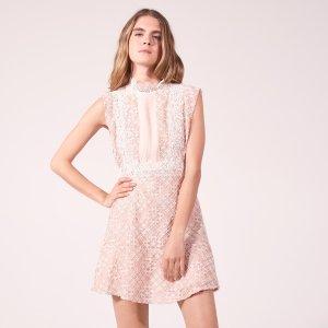 High Neck Lace Dress - Dresses - Sandro-paris.com
